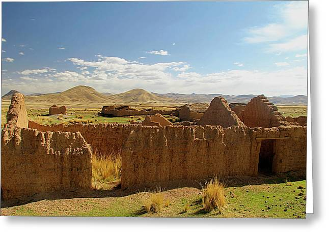 South America, Peru, The Andes Greeting Card by Kymri Wilt