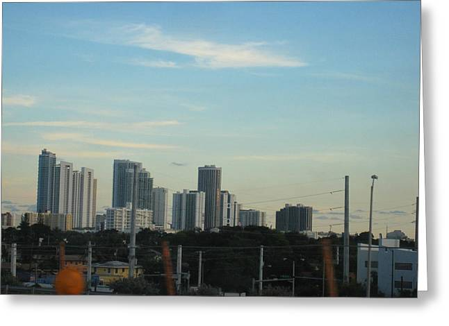 South Beach - 121238 Greeting Card by DC Photographer