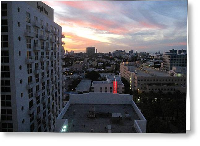 South Beach - 121245 Greeting Card by DC Photographer