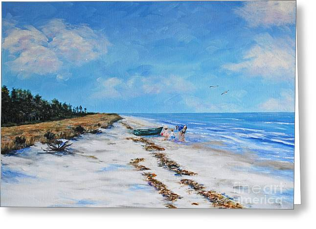 South Beach  Hilton Head Island Greeting Card