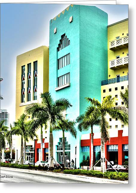 South Beach Greeting Card by Michelle Wiarda