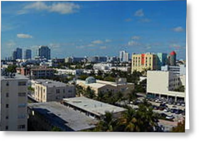 South Beach Sofi District Greeting Card by J Anthony