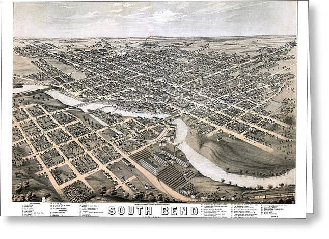 South Bend - Indiana - 1874 Greeting Card