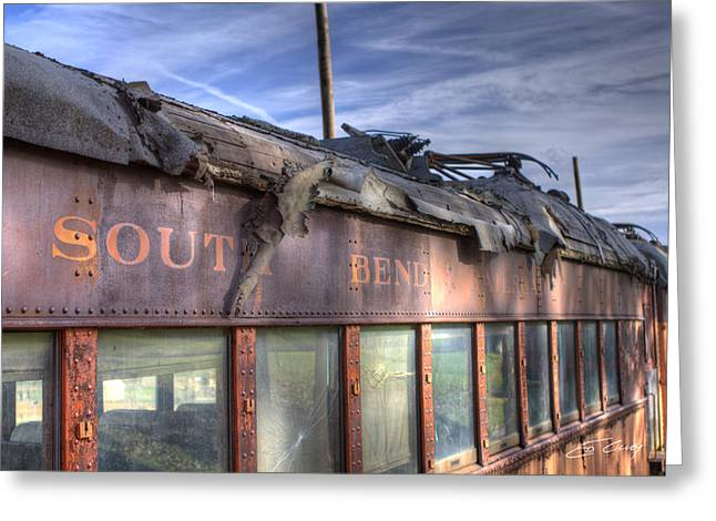 Greeting Card featuring the photograph South Bend Railroad - Seen Better Days by Ed Cilley