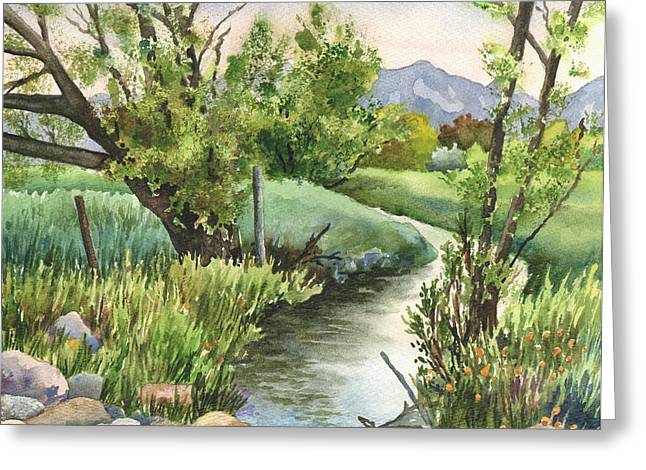 South Boulder Creek Greeting Card