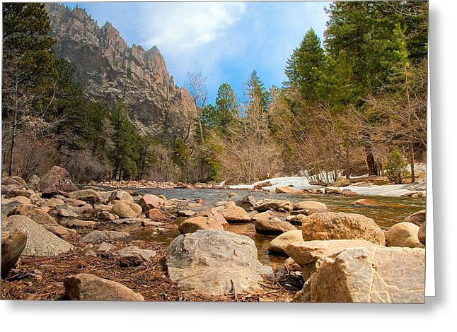 Greeting Card featuring the photograph South Boulder Creek - Eldorado Canyon State Park by Tom Potter