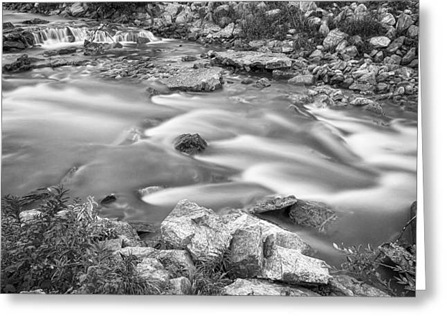 South Boulder Creek Little Waterfalls Rollinsville Bw Greeting Card by James BO  Insogna