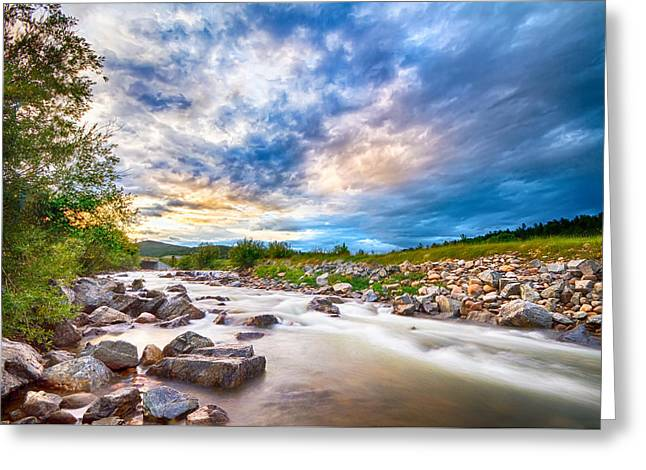 South Boulder Creek Sunset View Rollinsville Colorado Greeting Card by James BO  Insogna