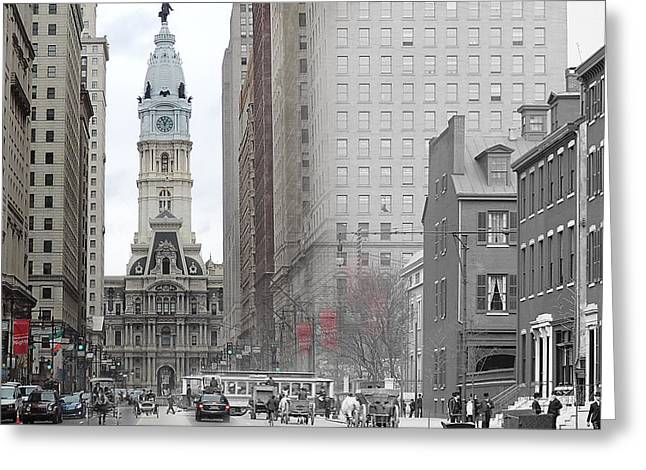 South Broad From Locust Street Greeting Card