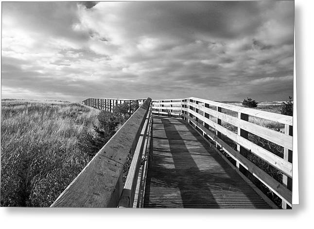 South Cape Beach Boardwalk Greeting Card by Brooke T Ryan