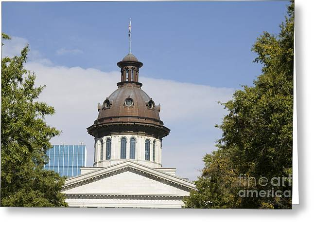 South Caroilna Capital Building Detail Greeting Card