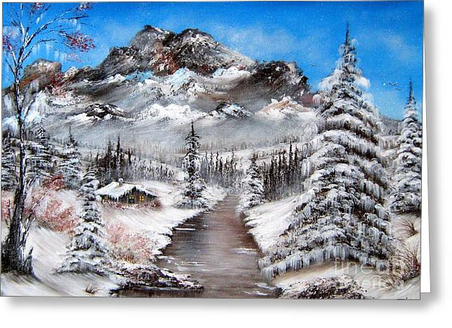 Greeting Card featuring the painting South Dakota Morning by Patrice Torrillo
