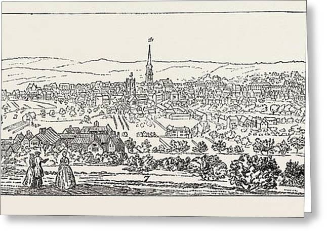 South East Prospect Of Leeds Greeting Card by English School