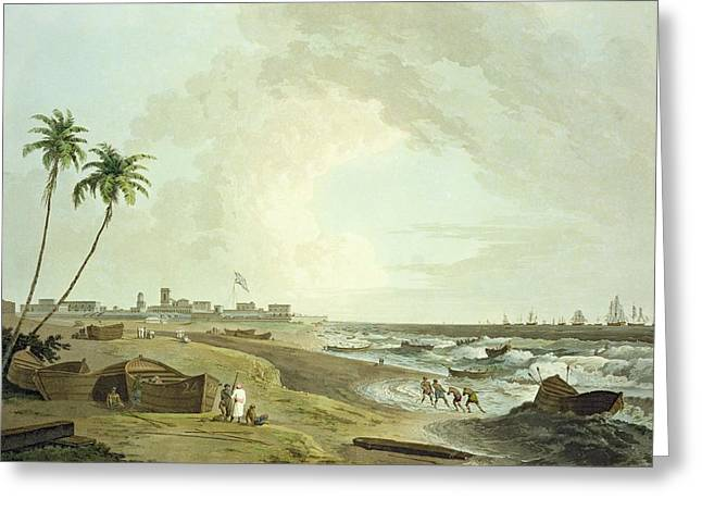 South East View Of Fort St. George Greeting Card by Thomas Daniell