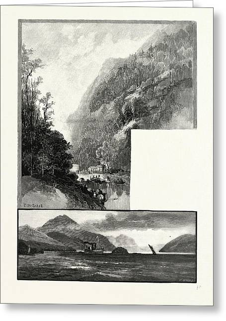South Eastern Quebec, Owls Head, From Mountain House Top Greeting Card