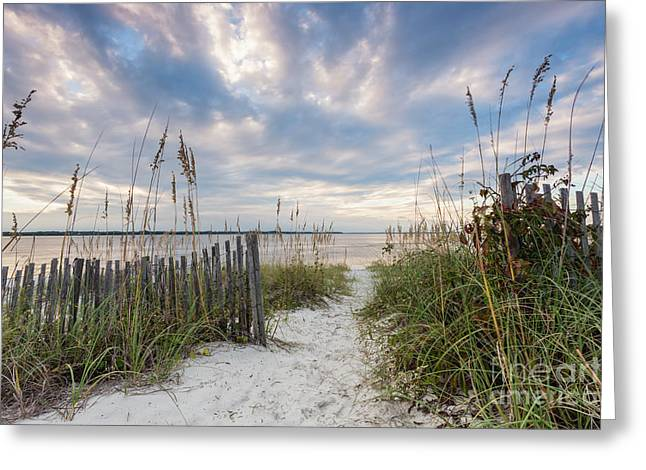 South End Sojourn Amelia Island Florida Greeting Card by Dawna  Moore Photography