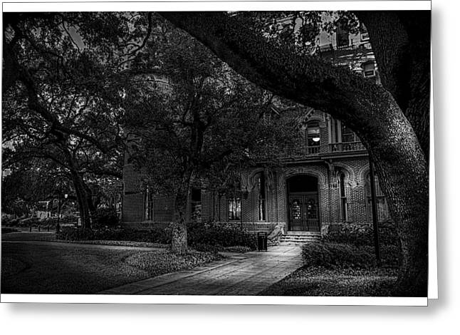 South Entry Black And White Greeting Card by Marvin Spates