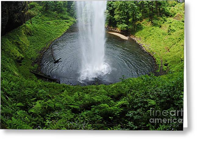 South Falls Oregon Greeting Card by Bob Christopher