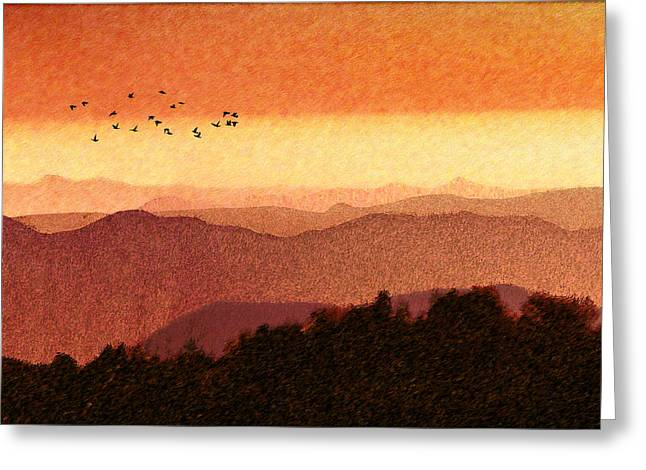 Here Comes The Sun Greeting Card by Paul Wear