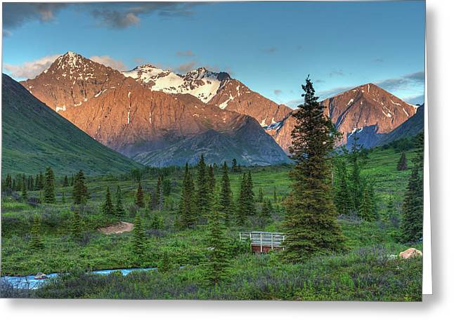 South Fork Near Eagle River At Sunset Greeting Card