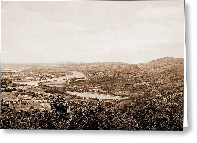 South From Mt. Holyoke, South Hadley, United States Greeting Card