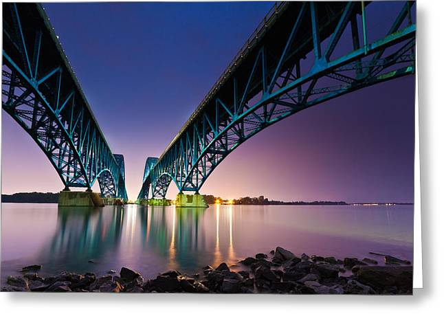 South Grand Island Bridge Greeting Card