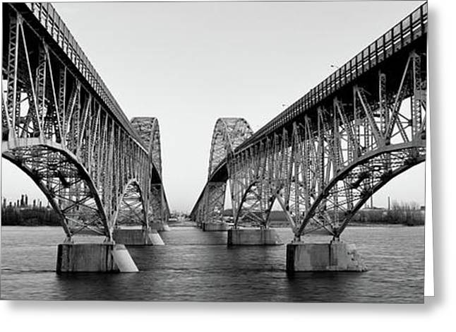South Grand Island Bridges, New York Greeting Card by Panoramic Images