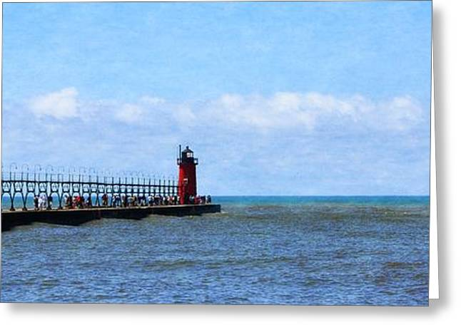South Haven Channel Greeting Card by Michelle Calkins