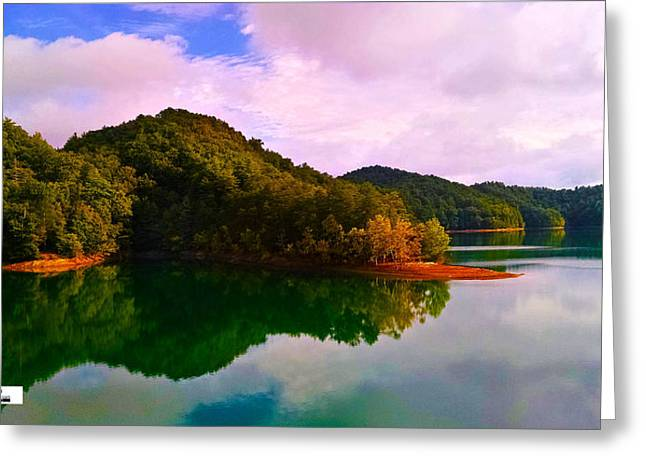 North Holston Lake Mountains Greeting Card
