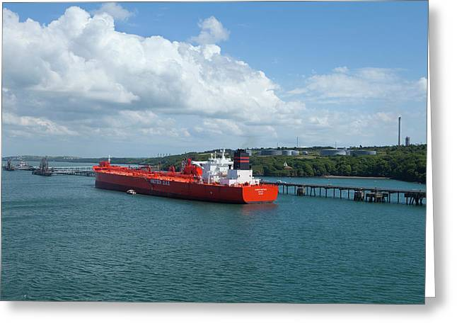 South Hook Lng Terminal, Milford Haven Greeting Card by Panoramic Images