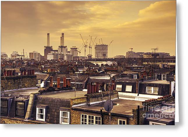 South London Skyline  Greeting Card