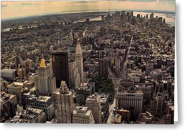 South Manhattan Skyline  Greeting Card