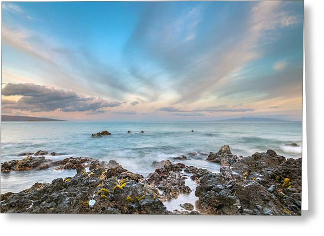 South Maui Sunrise Greeting Card by Pierre Leclerc Photography