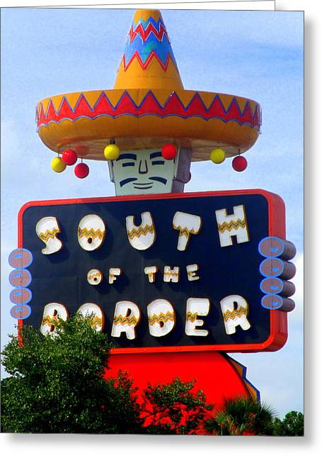 South Of The Border Motel Greeting Card by Randall Weidner