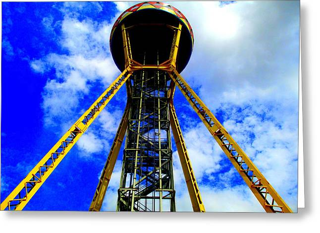 South Of The Border Observation Tower Greeting Card by Randall Weidner