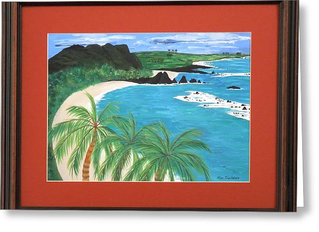 Greeting Card featuring the painting South Pacific by Ron Davidson