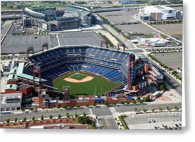 South Philadelphia Sports Complex Philadelphia Pennsylvania Greeting Card by Bill Cobb