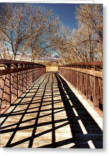 South Platte River Bridge Greeting Card