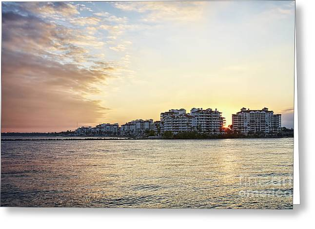 South Pointe Sunset Greeting Card by Eyzen M Kim