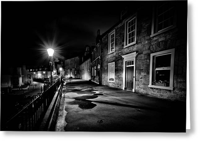 South Queensferry Main Street Greeting Card by Buster Brown