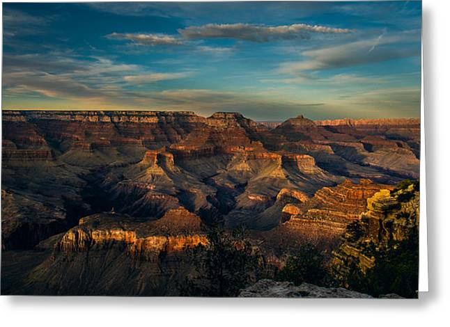 South Rim Nightfall Greeting Card