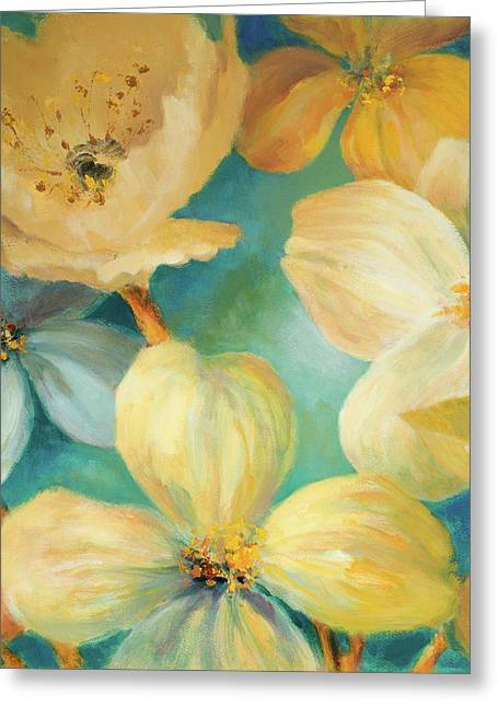 South Sea Lights Floral Square Greeting Card