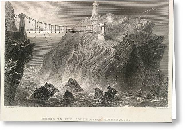 South Stack Lighthouse Greeting Card by British Library