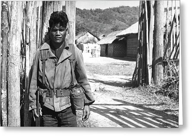South Vietnamese Soldier, 1966 Greeting Card by Stocktrek Images