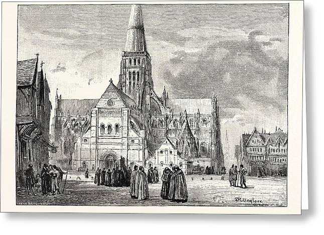 South-west View Of Old St Greeting Card