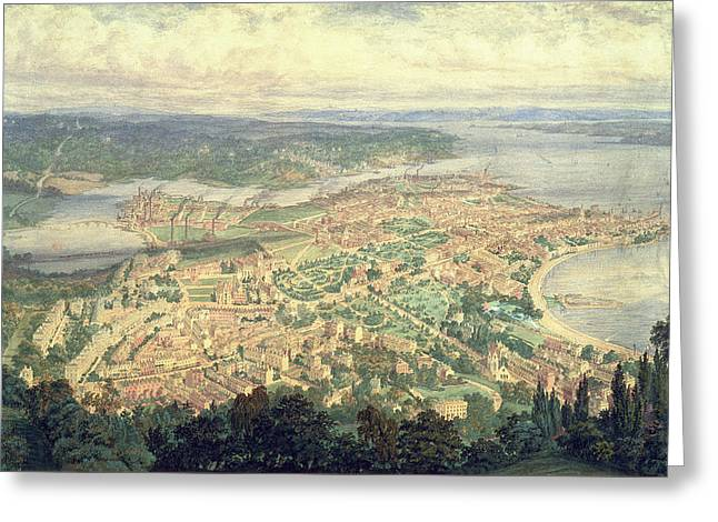 Southampton In The Year 1856 Greeting Card by Philip Brannon