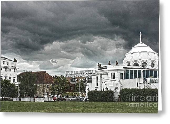 Southampton Royal Pier Hampshire Greeting Card by Terri Waters