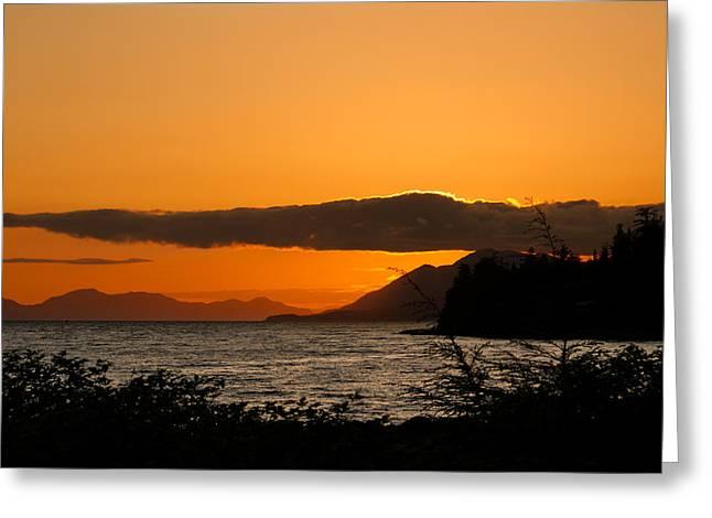 Southeast Alaska Sunset Greeting Card