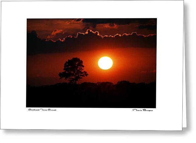 Greeting Card featuring the photograph Southeast Texas Sunset by Travis Burgess