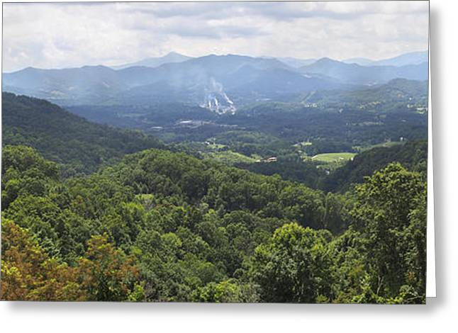 Southern Appalachian Mountains - Panoramic Greeting Card by Mike McGlothlen